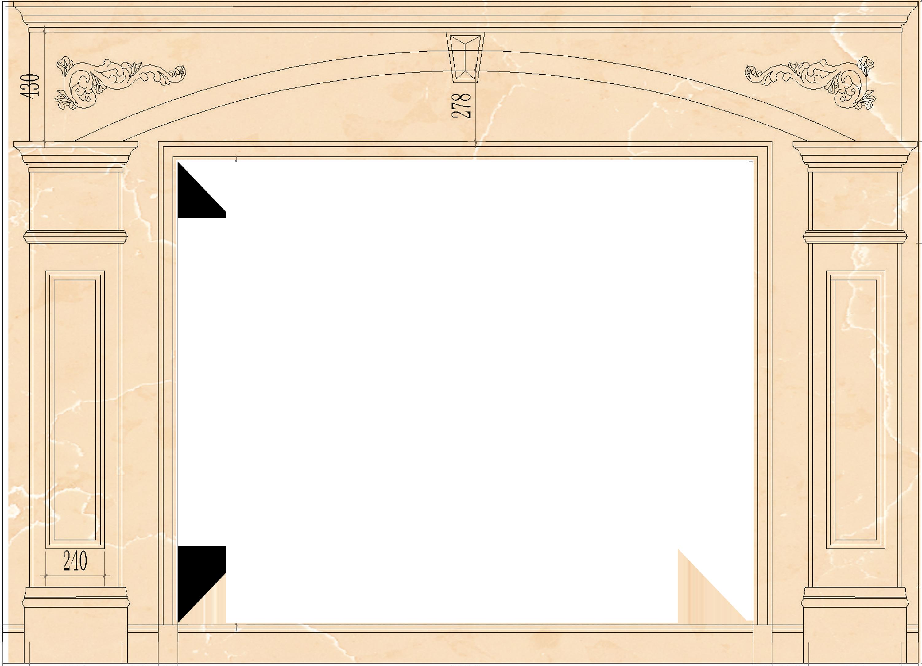 本店分类:罗马柱  规格:4500x3500 适用范围:13 适用风格:中式,美式图片