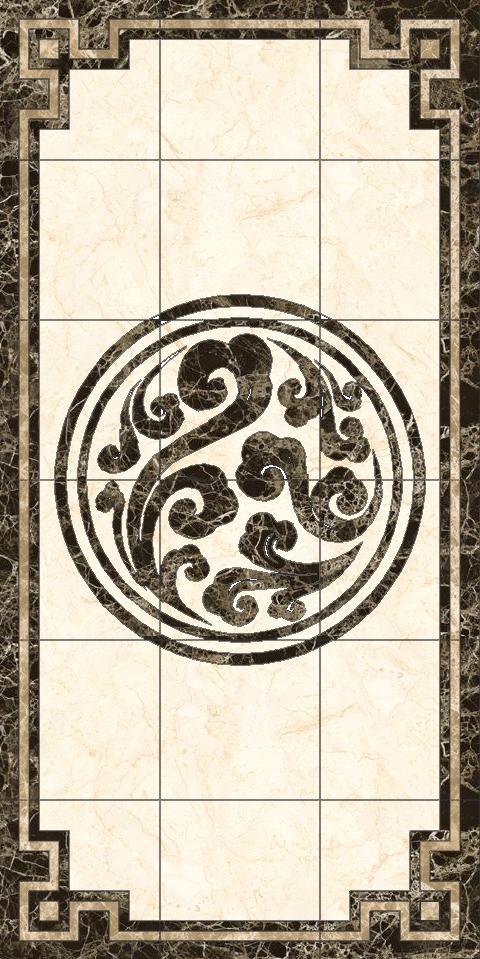 水刀拼花-瓷砖拼花  规格:2400x4800 适用范围:5 适用风格:中式,美式