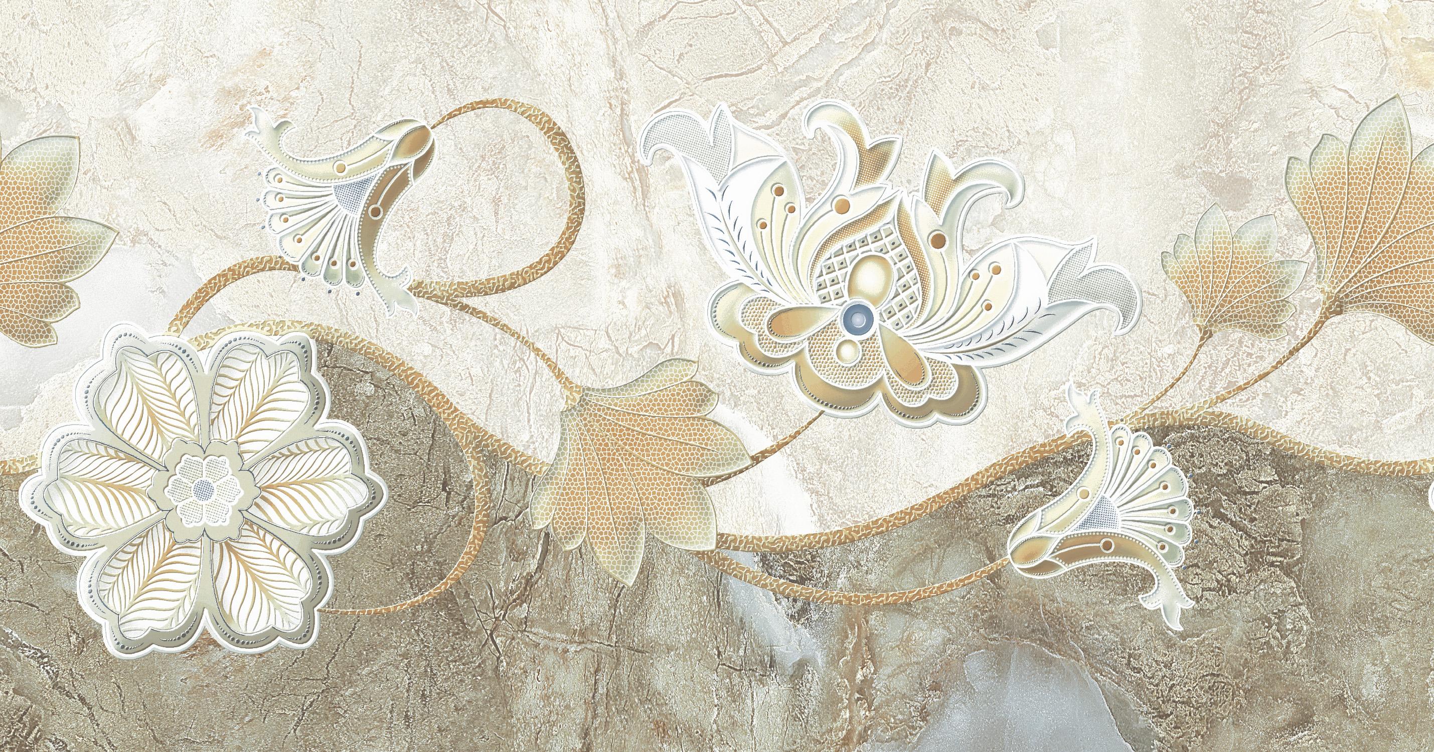 欧式花样壁纸带腰线效果图